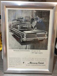 Original 1964 US Mercury Comet Advert