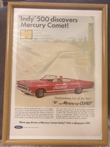 1966 Mercury Comet Framed Advert Original