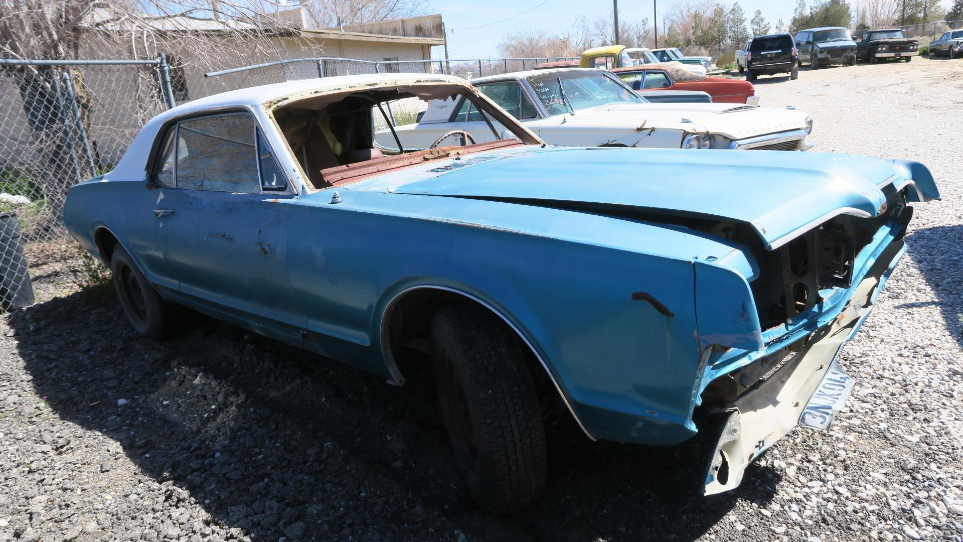 1967 Mercury Cougar 289 C Code Auto Project Blue  $1.9k For Sale (picture 2 of 6)