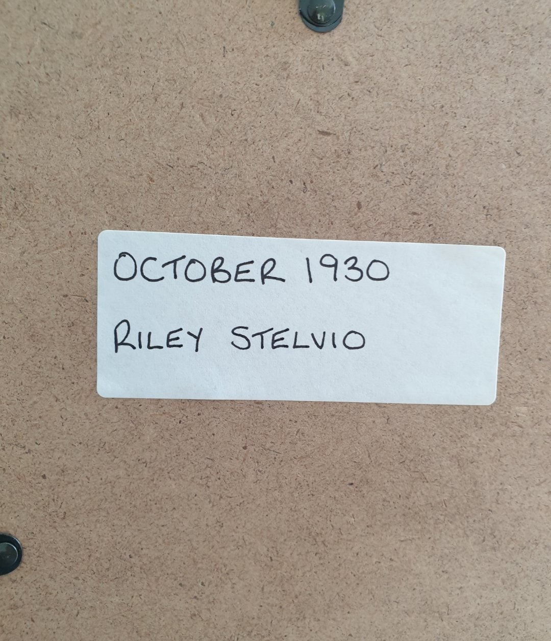1964 Original 1930 Riley Stelvio Framed Advert  For Sale (picture 2 of 3)