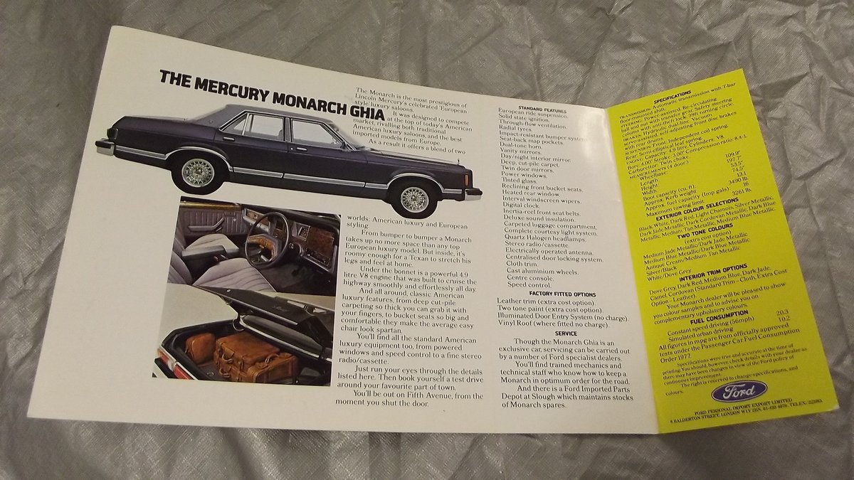 0000 mercury brochures original for sale For Sale (picture 2 of 4)