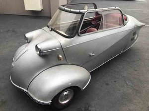 1960 Messerschmitt Kr200 = Rare + Clean Silver(~)Red $26.5k