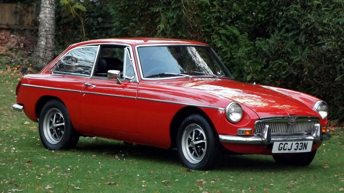 1974 MG BGT COUPE with overdrive and chrome bumpers For Sale (picture 1 of 6)