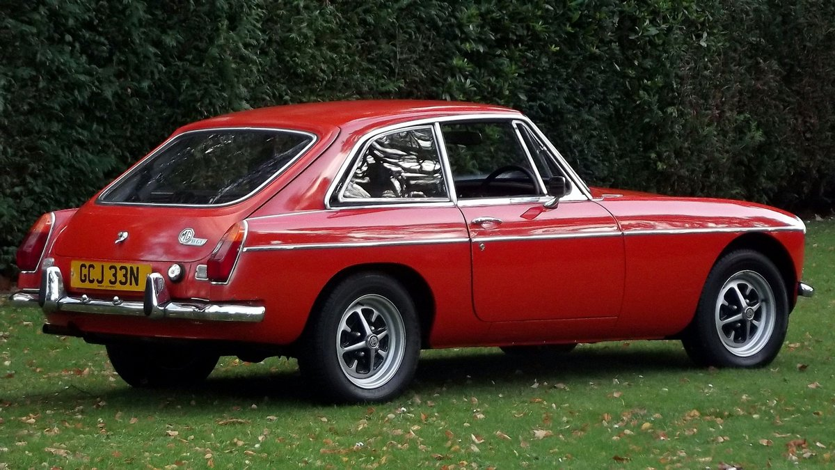 1974 MG BGT COUPE with overdrive and chrome bumpers For Sale (picture 2 of 6)