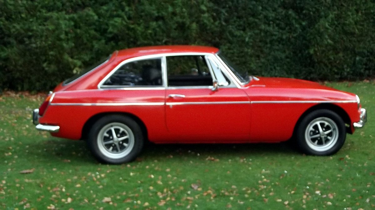 1974 MG BGT COUPE with overdrive and chrome bumpers For Sale (picture 3 of 6)