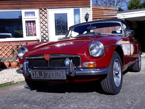 MGB ROADSTER 1973 M REG SOLD (picture 1 of 3)