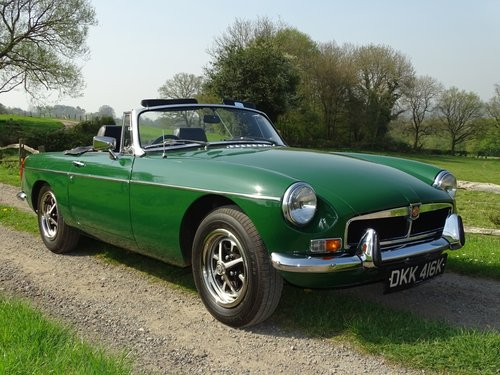 Superb 1972 MGB Roadster.Matching numbers.Lovely car. SOLD (picture 1 of 6)