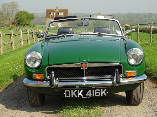 Superb 1972 MGB Roadster.Matching numbers.Lovely car. SOLD (picture 3 of 6)