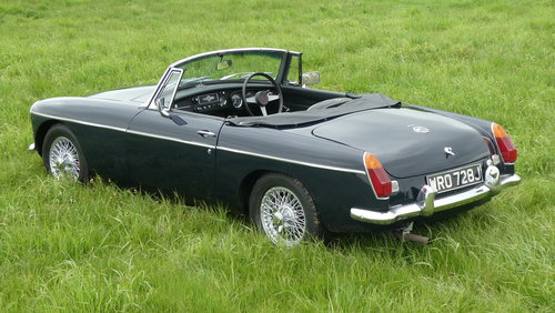 1971 MG B Roadster, last owner 23 years! For Sale SOLD (picture 4 of 6)