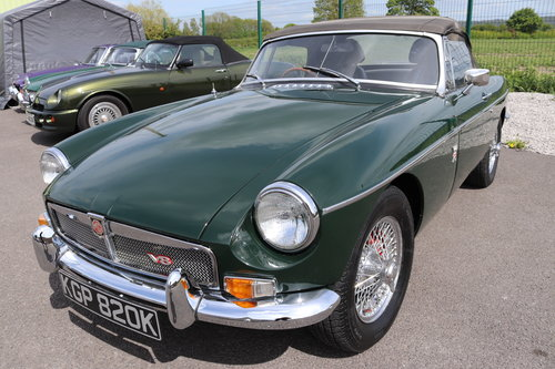 1971 MGB V8 Roadster ,HERITAGE SHELL, 3.9 litre SOLD (picture 1 of 6)