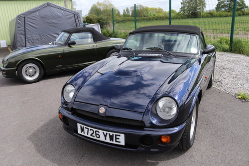 1994 MG RV8 in rare Oxford Blue SOLD (picture 1 of 5)