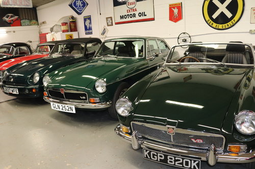 1972 MGB V8 Roadster, GTV8 and RV8 in stock For Sale (picture 1 of 5)