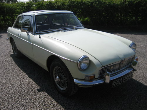 1969 MGB GT with overdrive and wire wheels SOLD (picture 1 of 6)