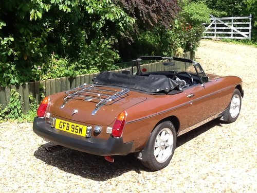 1981 MGB Roadster Immaculate Condition For Sale (picture 2 of 6)