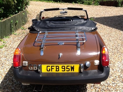 1981 MGB Roadster Immaculate Condition For Sale (picture 4 of 6)