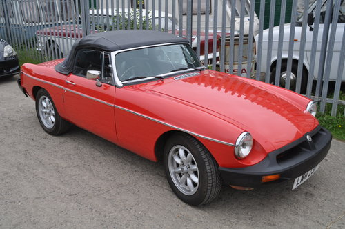 Early MG MGB rubber bumper roadster £4750 SOLD (picture 1 of 6)