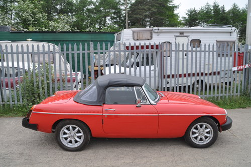 Early MG MGB rubber bumper roadster £4750 SOLD (picture 4 of 6)