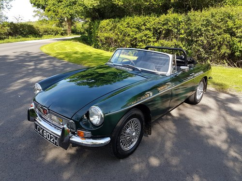 1970 MGB Roadster Dark British racing green SOLD (picture 5 of 6)