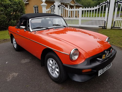 1980 MGB Roadster - Very low mileage - Stunning SOLD (picture 1 of 6)