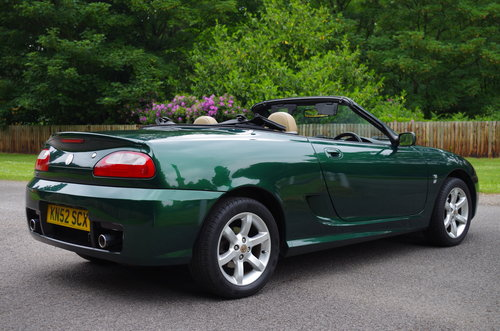 2002 MG TF Stepspeed low mileage rare model SOLD (picture 5 of 6)