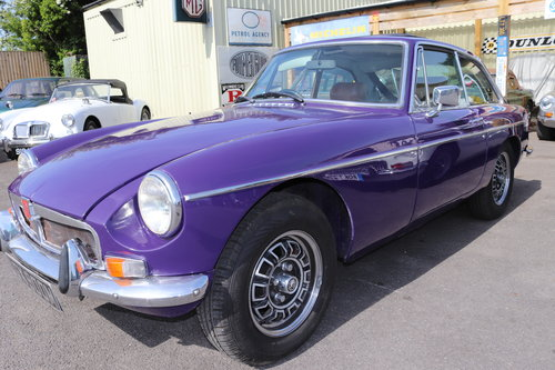 1973 FACTORY MGB GT V8 in Aconite SOLD (picture 1 of 6)