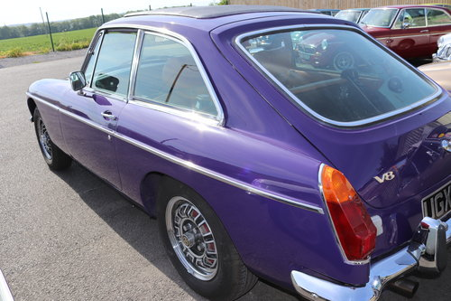1973 FACTORY MGB GT V8 in Aconite SOLD (picture 4 of 6)