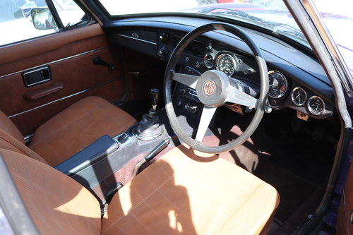 1973 FACTORY MGB GT V8 in Aconite SOLD (picture 6 of 6)