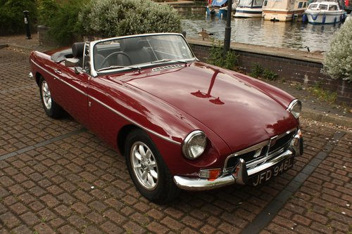 1972 MGB Roadster - Damask Red, Fully Restored chrome bumper SOLD (picture 1 of 6)