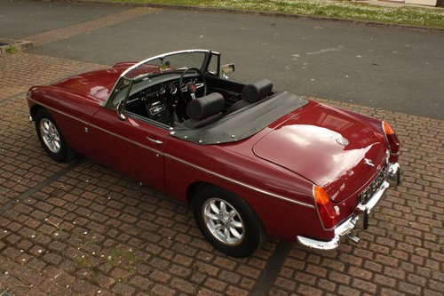 1972 MGB Roadster - Damask Red, Fully Restored chrome bumper SOLD (picture 2 of 6)
