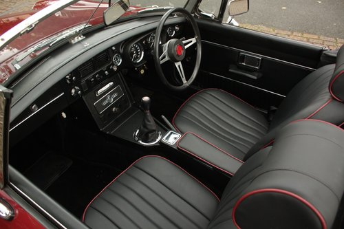 1972 MGB Roadster - Damask Red, Fully Restored chrome bumper SOLD (picture 3 of 6)