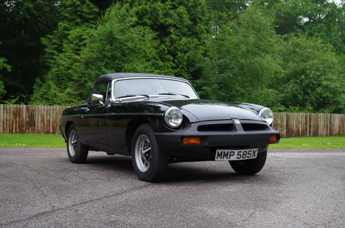 1981 MG MGB Roadster very low mileage, one previous owner SOLD (picture 2 of 6)