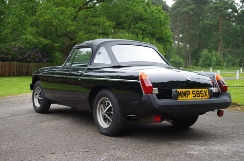 1981 MG MGB Roadster very low mileage, one previous owner SOLD (picture 4 of 6)