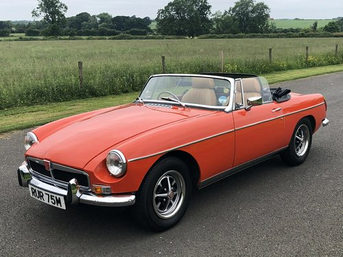 1973 MG MGB Roadster Manual with Overdrive SOLD (picture 1 of 6)