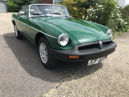 1981 MGB Roadster Rubber Bumper with HARD TOP For Sale (picture 1 of 6)