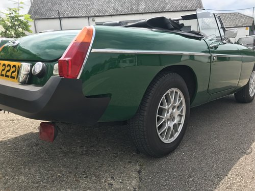 1981 MGB Roadster Rubber Bumper with HARD TOP SOLD (picture 4 of 6)