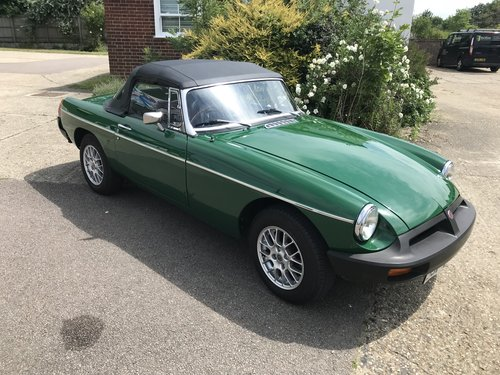 1981 MGB Roadster Rubber Bumper with HARD TOP SOLD (picture 5 of 6)