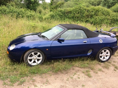 1997 MGF IN BLUE CREAM LEATHER 6 MONTHS MOT For Sale (picture 2 of 6)