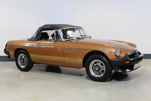 1981 Remarkable survivor MG B LE Roadster with just 250 miles !! SOLD (picture 3 of 6)