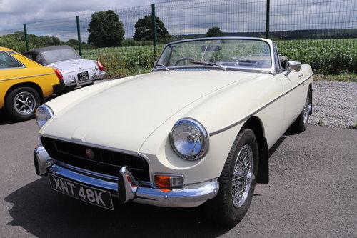 1970 MGB HERITAGE SHELL in Old english white SOLD (picture 1 of 5)