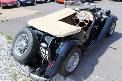 1951 MG TD, UK car in factory black with chrome wires SOLD (picture 2 of 6)
