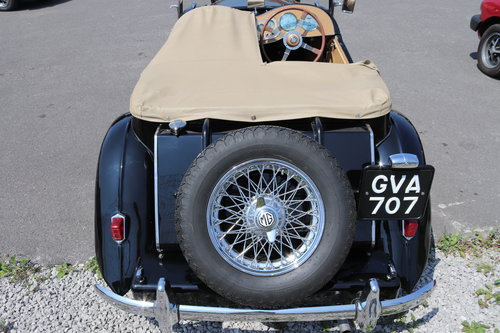 1951 MG TD, UK car in factory black with chrome wires SOLD (picture 6 of 6)