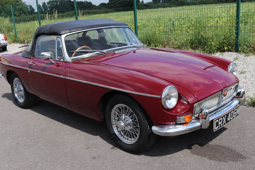 1973 MGB Roadster, Heritage shell, total rebuild, 6 in stock SOLD (picture 1 of 6)