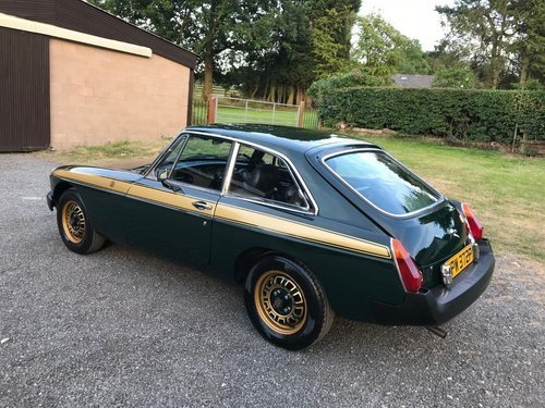 1975 MG BGT JUBILEE GREEN/GOLD 1 OF 750 STUNNING!! SOLD (picture 3 of 6)