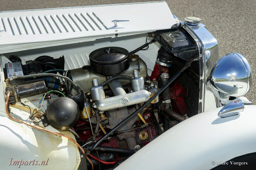 1953 very nice MG TD in white LHD For Sale (picture 4 of 6)