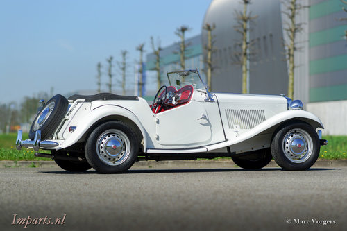 1953 very nice MG TD in white LHD For Sale (picture 5 of 6)