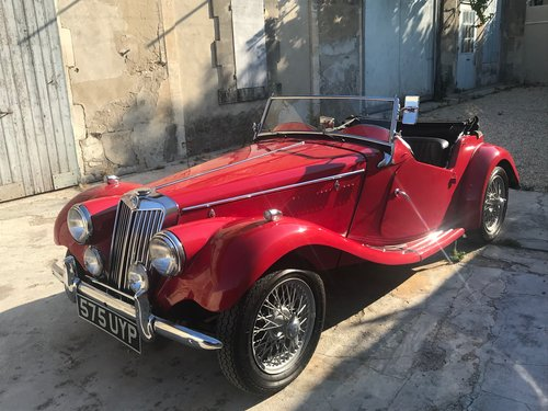 1954 MG Midget TF Roadster LHD, Supplied new to Belguim FIVA For Sale (picture 1 of 6)