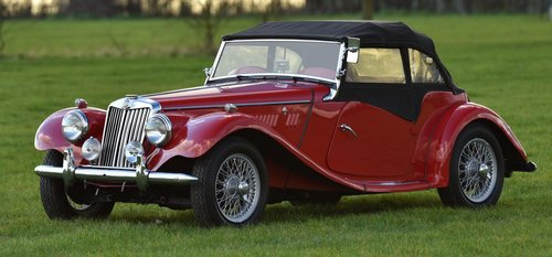 1954 MG Midget TF Roadster LHD, Supplied new to Belguim FIVA For Sale (picture 5 of 6)