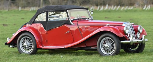 1954 MG Midget TF Roadster LHD, Supplied new to Belguim FIVA For Sale (picture 6 of 6)