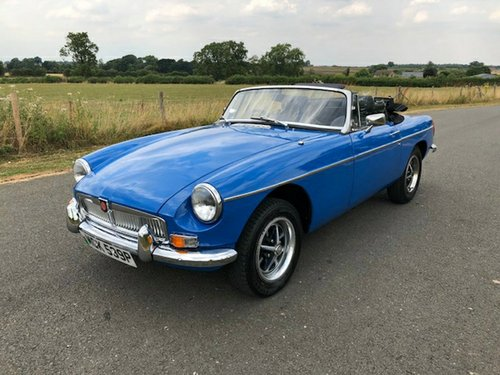1975 MGB Roadster Manual with Overdrive SOLD (picture 1 of 6)