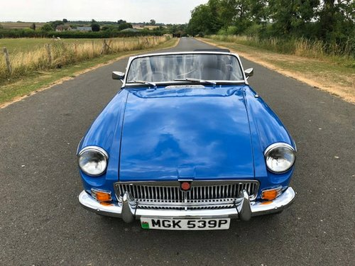 1975 MGB Roadster Manual with Overdrive SOLD (picture 2 of 6)